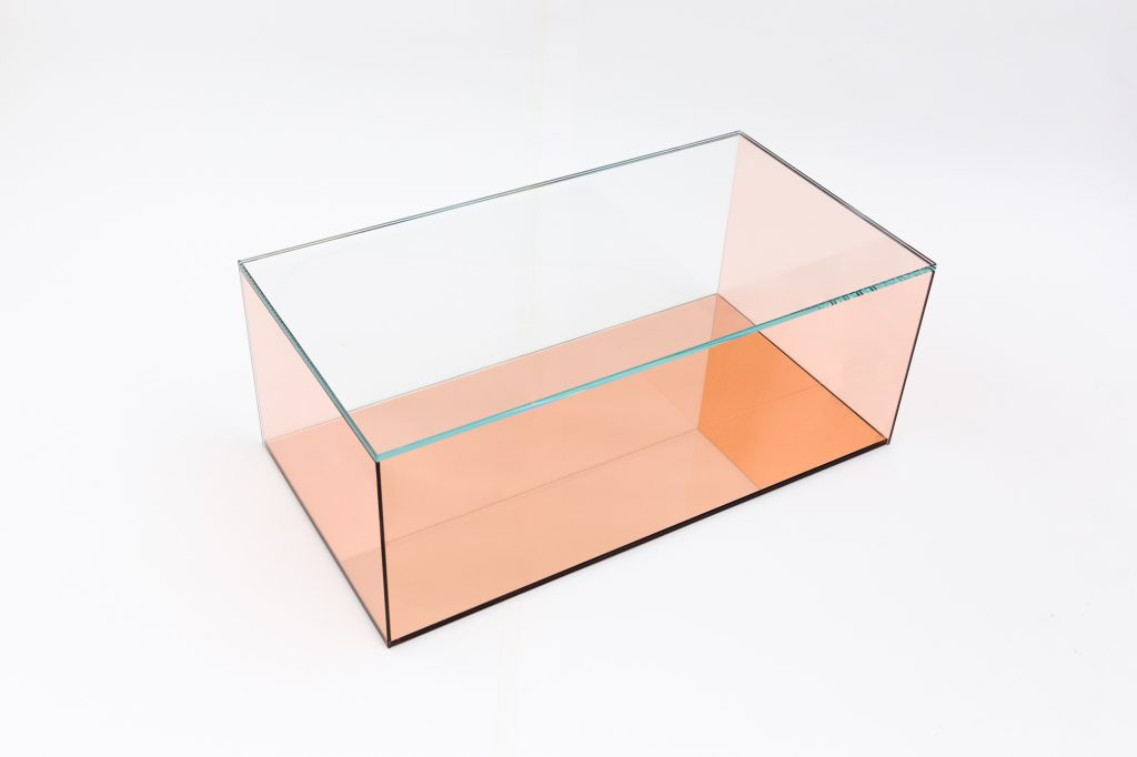 Farrah Sit Chiyome Desert Mirror glass tables