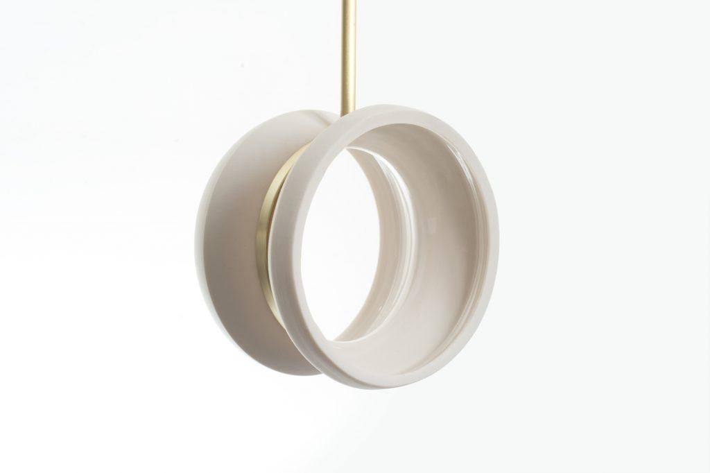 Farrah Sit Satin Khora Porcelain Chandelier