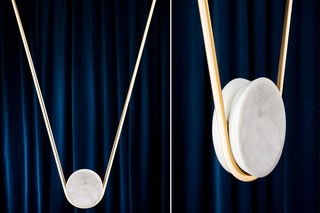 Pingala Pendant : neon and stone lighting