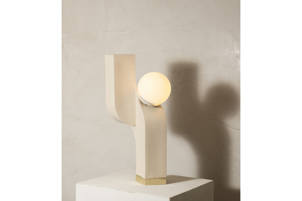 Farrah Sit Ceramic Scorpio Cantilever Table Lamp