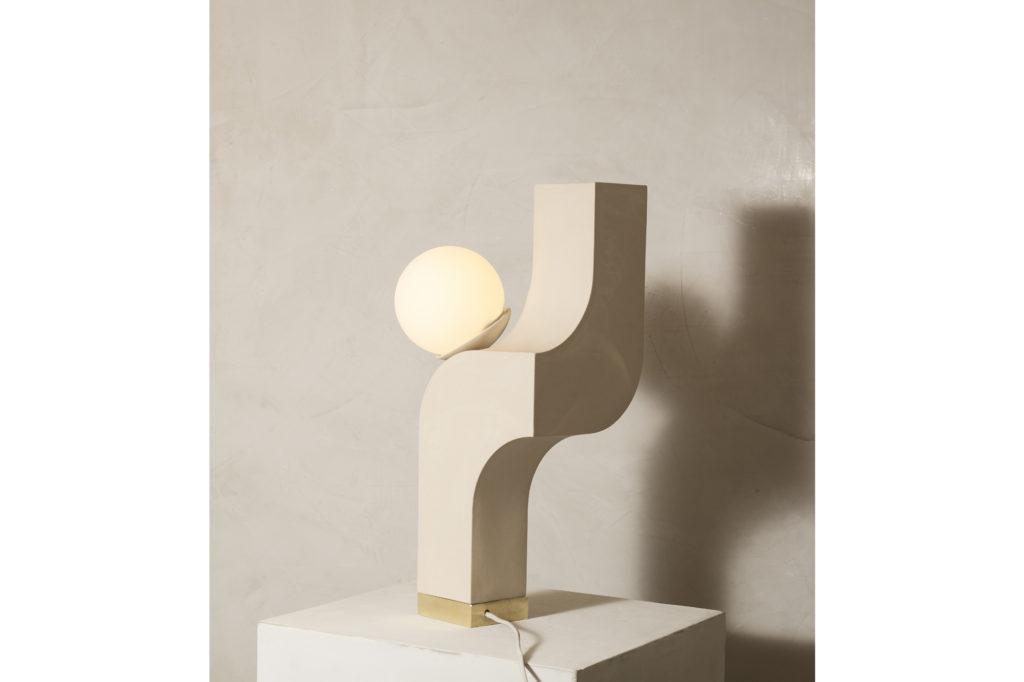 Farrah Sit Ceramic Scorpio Cantilever Table Lamp