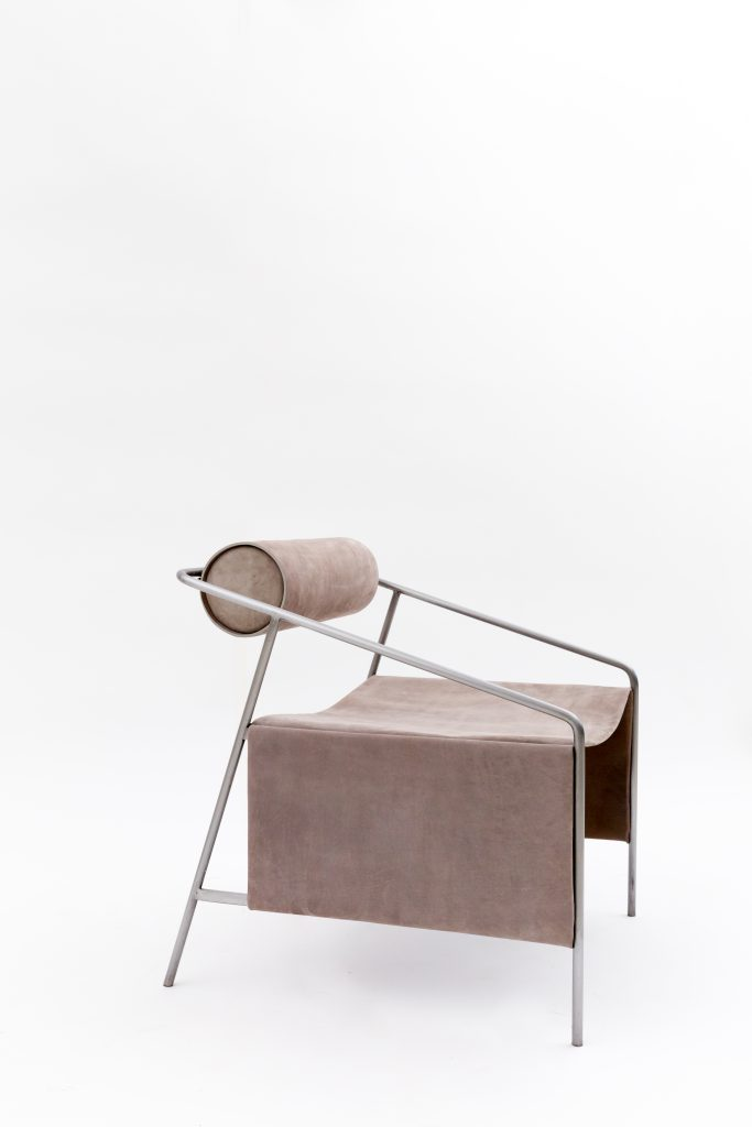 Farrah Sit + Chiyome Arctic Smoke Lounge Chair