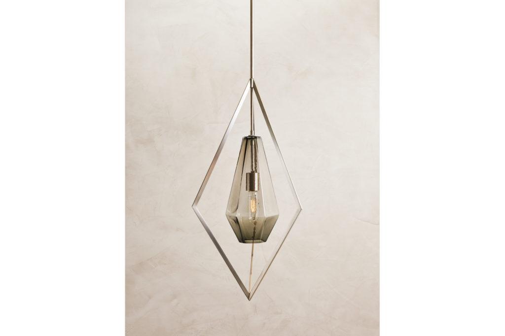 Farrah Sit Glass and Nickle Tetra Pendant