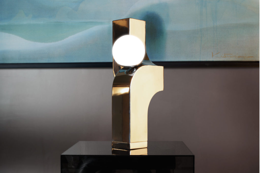 Farrah Sit Chrome Scorpio Cantilever Table Lamp